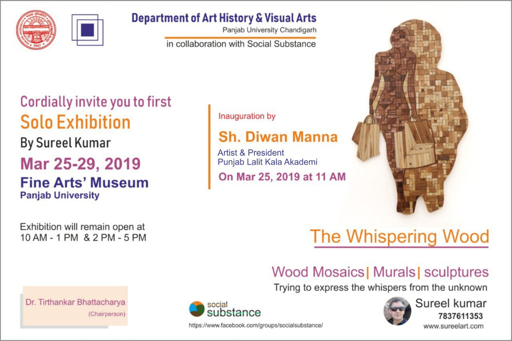 Sureel Art Solo Show, from 25/03/2018 – 29/03/2019 at Fine Arts' Museum, Panjab University, Chandigarh, India