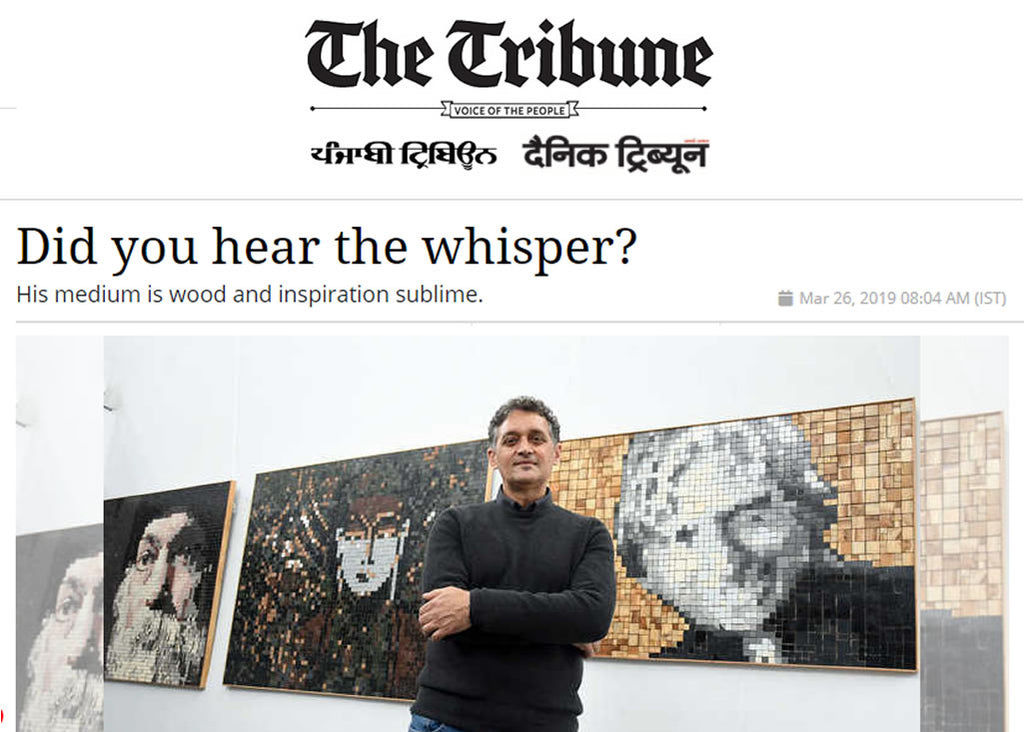 Story in Tribune Chandigarh on 26 March 2019 about me and my Solo Show from 25 March - 29 March 2019, at Fine Arts' Museum, Panjab University, Chandigarh, India (Special Thanks to Gurnaaz Kaur)