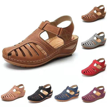 Soft PU Leather Closed Toe Vintage Anti-Slip Sandals💥Buy 3 Free Shipping & Get 15% Off