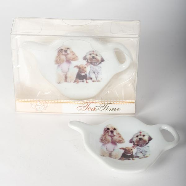 Porcelain Tea Bag Holders - Set of 2 - Various Designs
