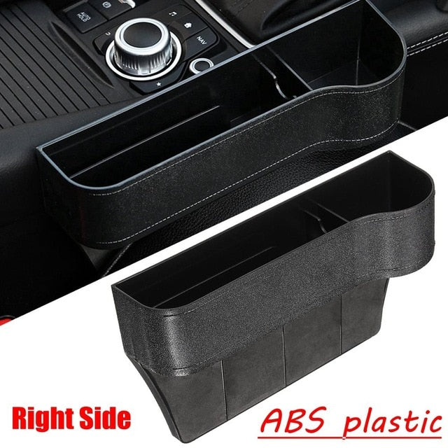 Leather car seat gap storage box