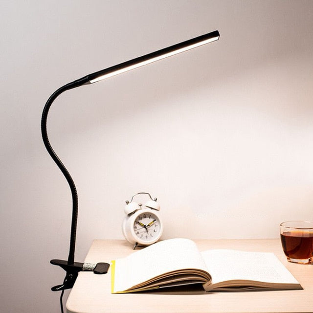 LED Desk Lamp with Clamp For Bed Reading Working And Computers
