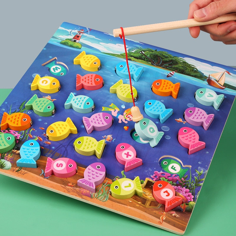 Montessori Educational Fishing Game For Kids
