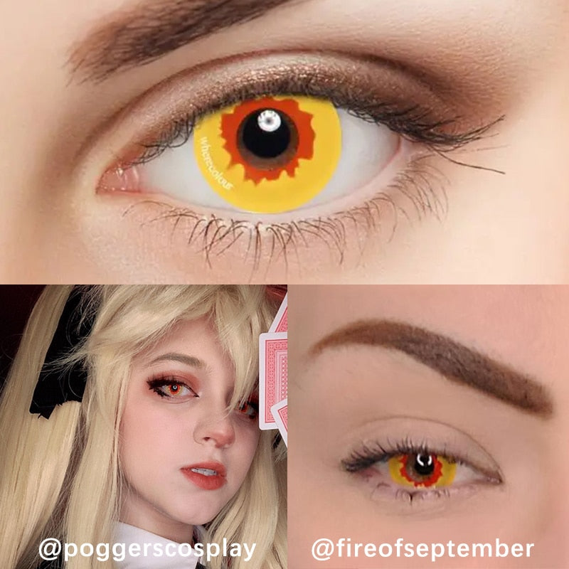 Halloween Style- WhereColour Wild Fire Yellow Contacts