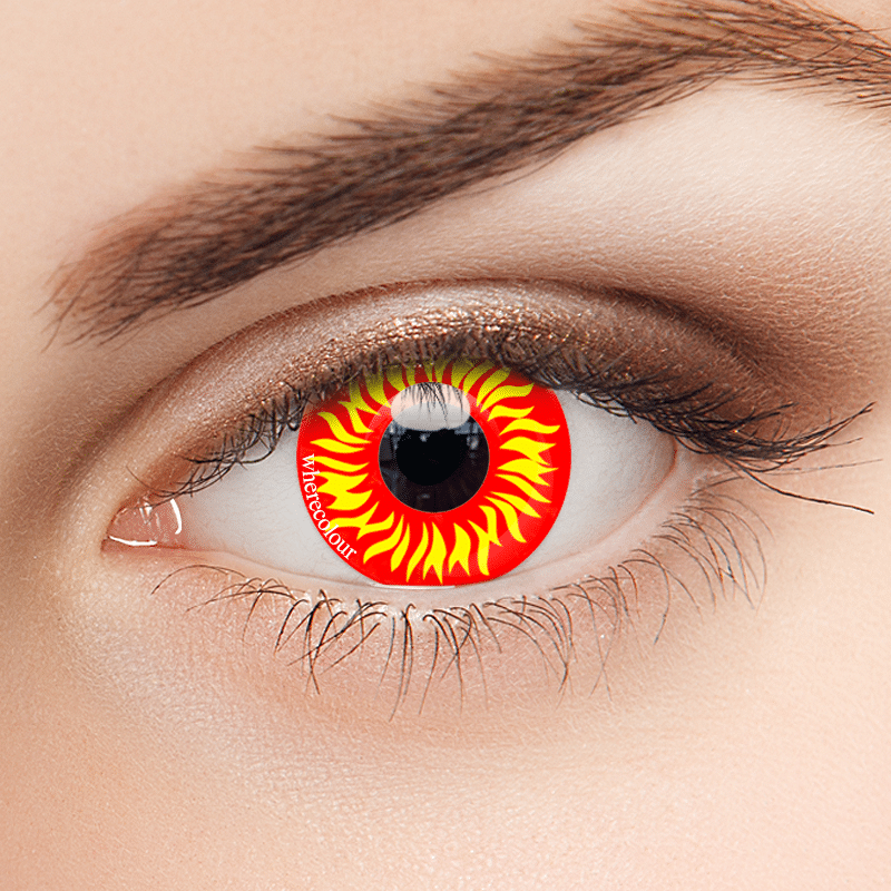 WhereColour Wild Fire Red Contacts