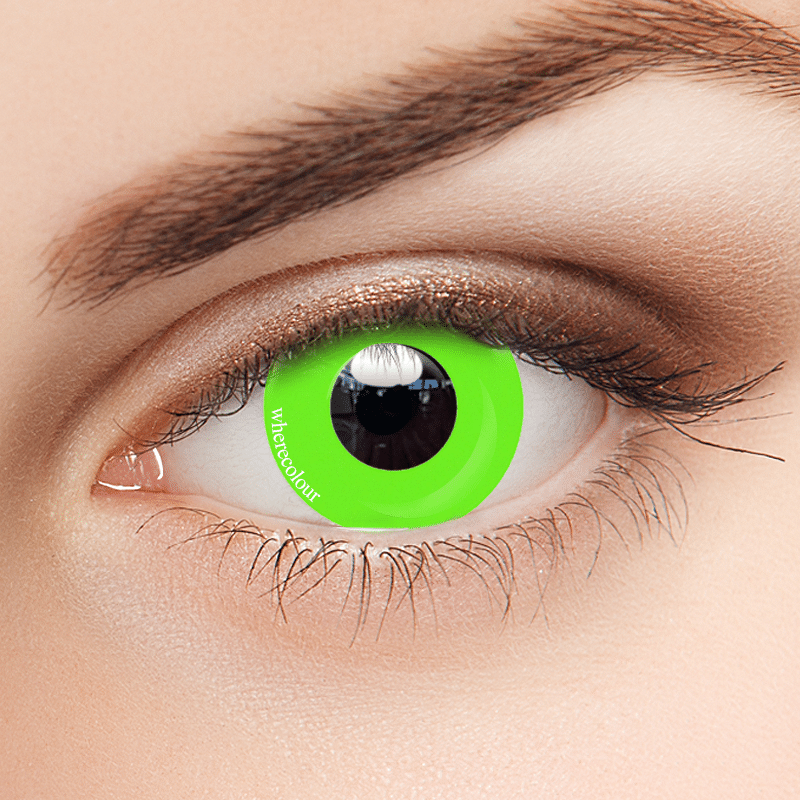 Influencers- WhereColour Pure Grass Green Contacts