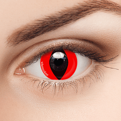 Influencers- WhereColour Special Red Colored Cat Eye Contacts