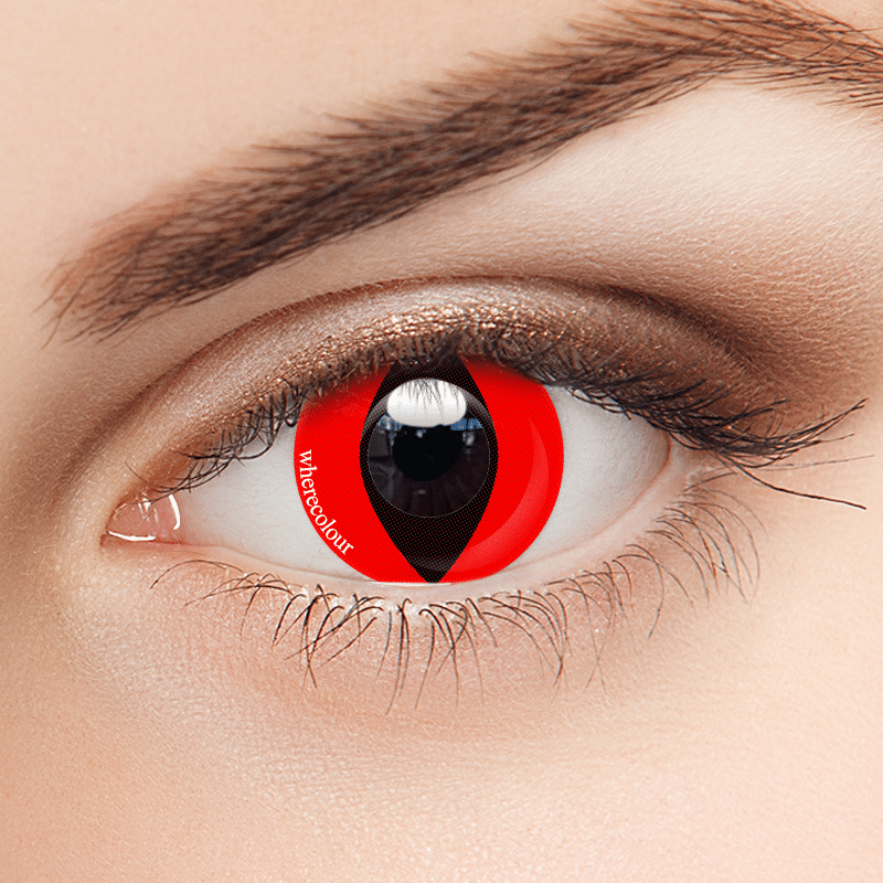 Halloween Style- WhereColour Special Red Colored Cat Eye Contacts