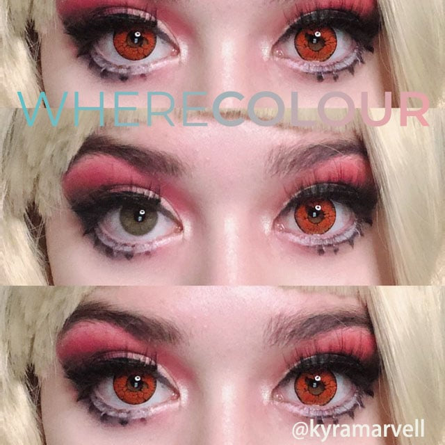 Halloween Style- WhereColour Dangerous Ruby Red Contacts