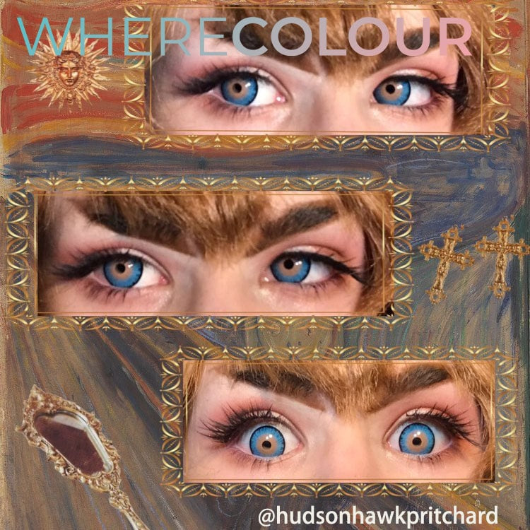 Halloween Style- WhereColour Exotic E.T. Alien Eye Blue Contacts