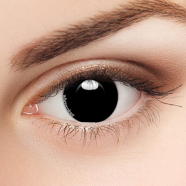 WhereColour Attractive Blind Black Contacts