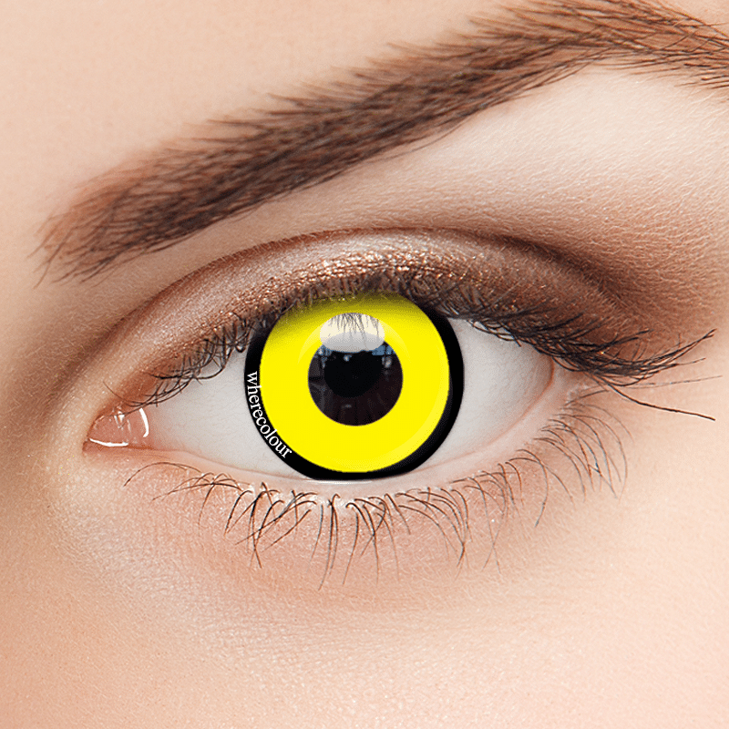Halloween Style- WhereColour Lollipop Bright Yellow Contacts