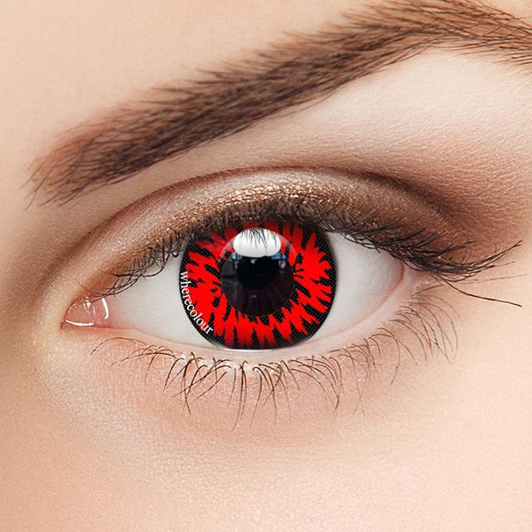 WhereColour Bloodthirsty Red Vampire Contacts