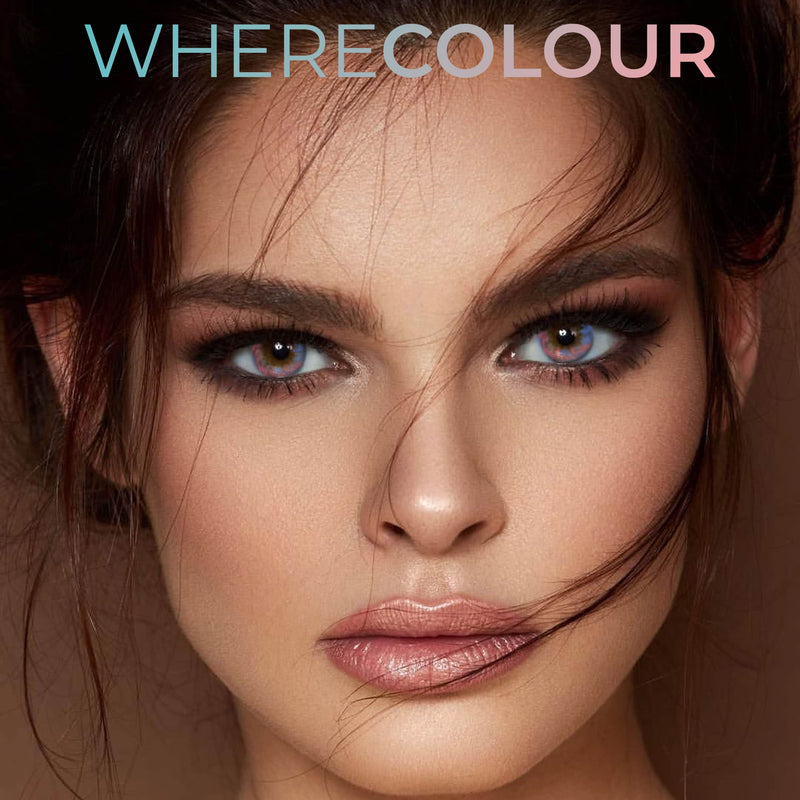 WhereColour Elizabeth Colorful Rainbow Contacts