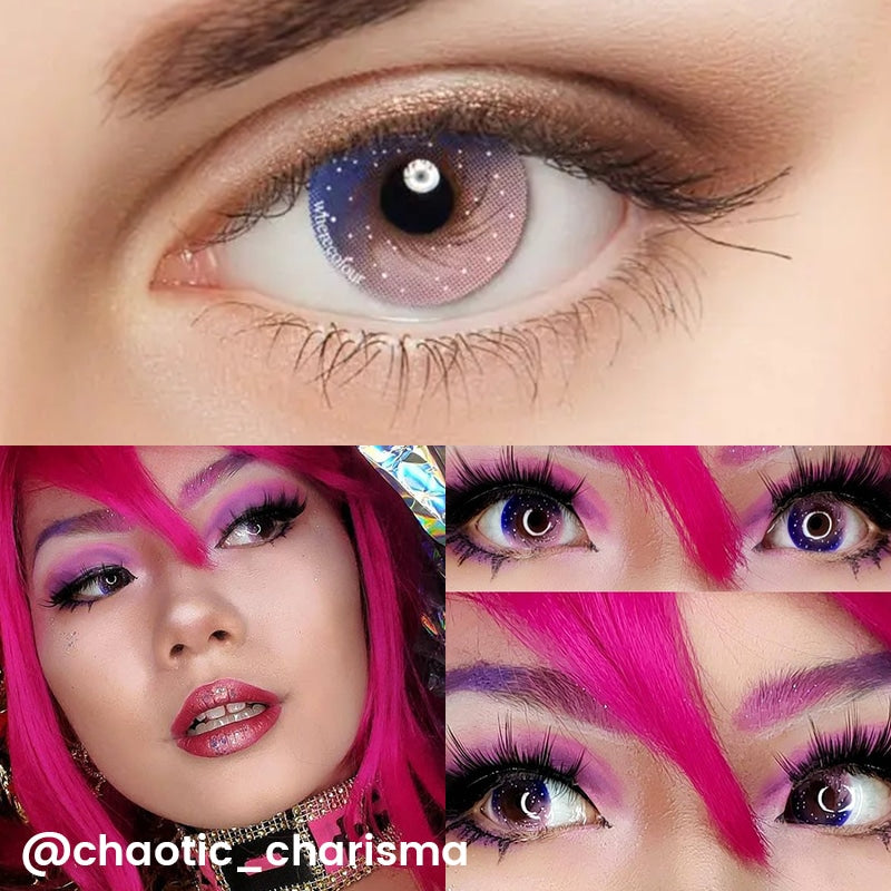 WhereColour Amazing Pink Galaxy Contacts