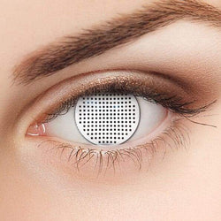 Sclera Contacts-WhereColour Best White Mesh Contacts