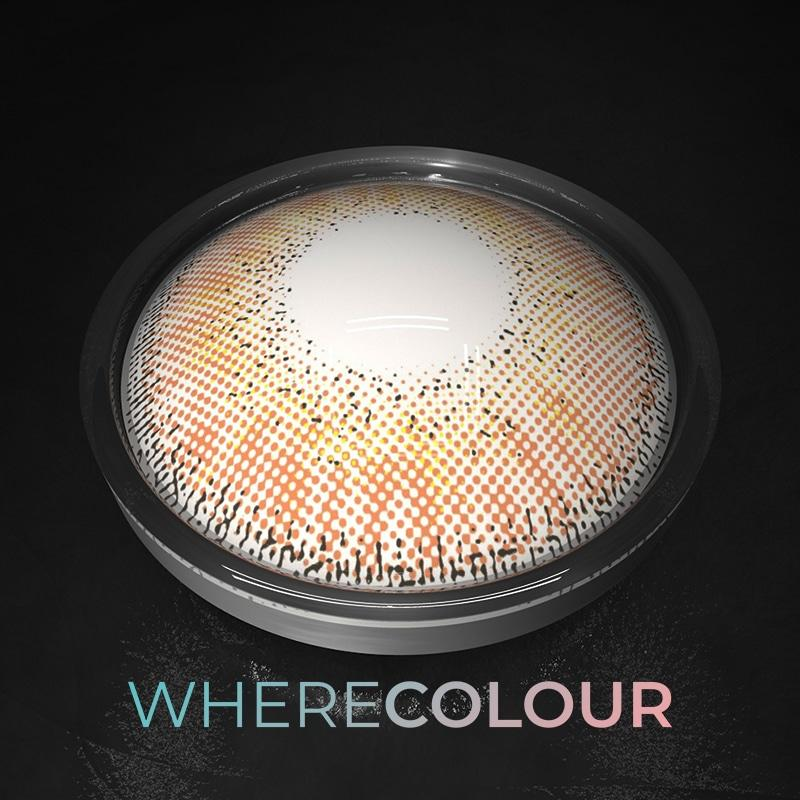 Influencers- WhereColour Glowing Sunset Brown Contacts