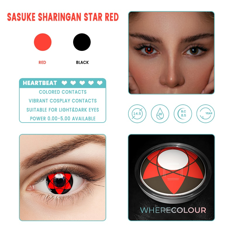 Halloween Style- WhereColour Sasuke Sharingan Red Contacts