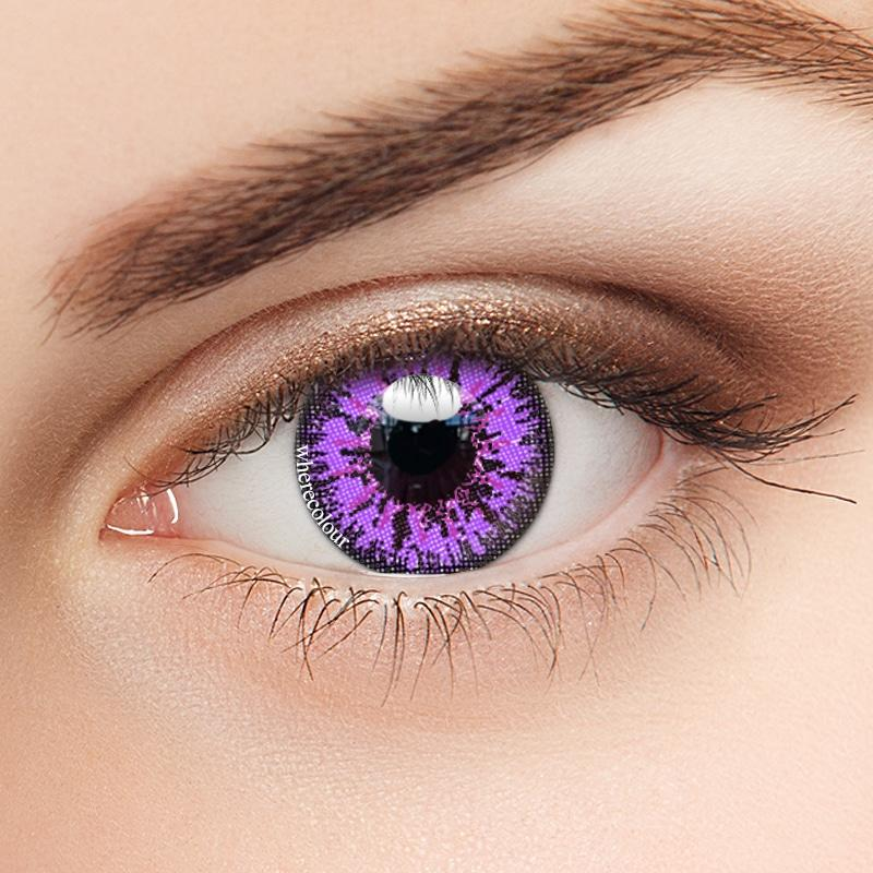 Halloween Style-WhereColour Mystery Purple Colored Contact Lenses