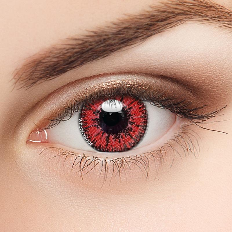 Influencers- WhereColour Mystery Red Contacts