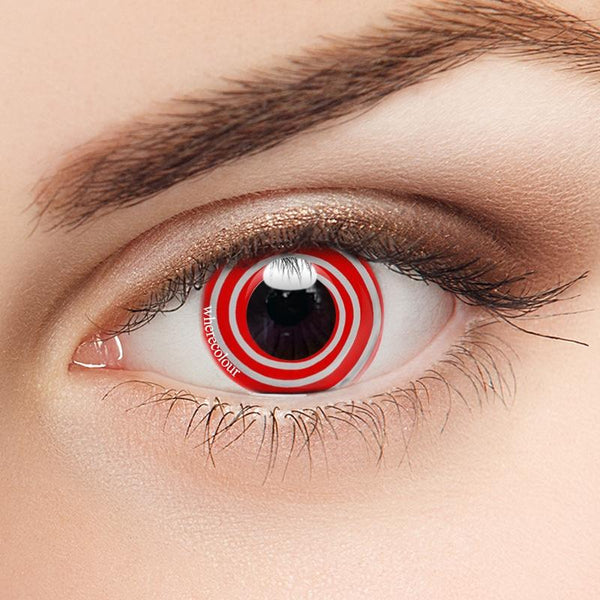 Spiral Contacts-WhereColour Red Swirl Contacts