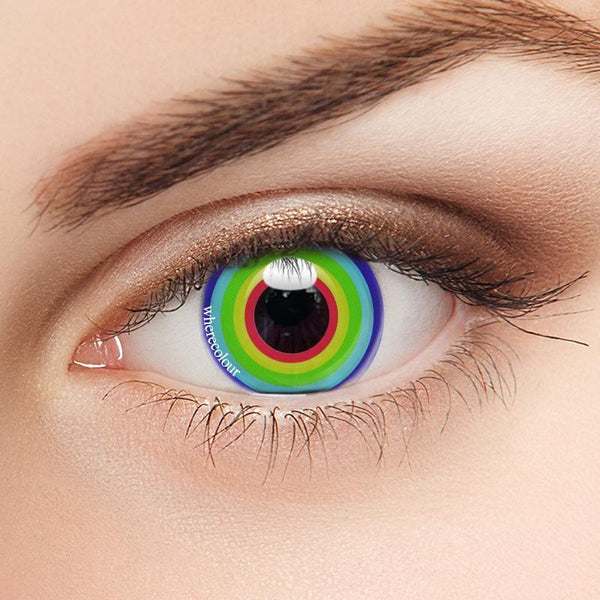 Spiral Contacts-WhereColour Rainbow Swirl Contacts