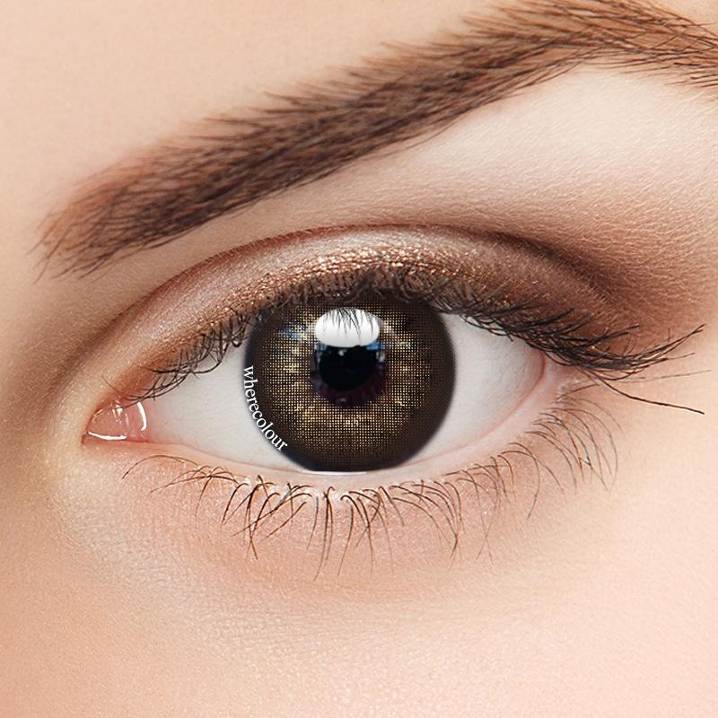 WhereColour Enlarge Ice Litchi Brown Contacts