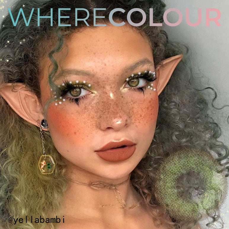 WhereColour Elvish Wildcat Green Contacts