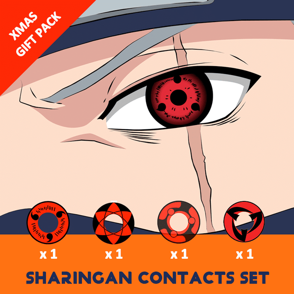 Sharingan Contacts Set - Absolute don't miss out(4 Pairs in one box)- Low as $8.99/Pair