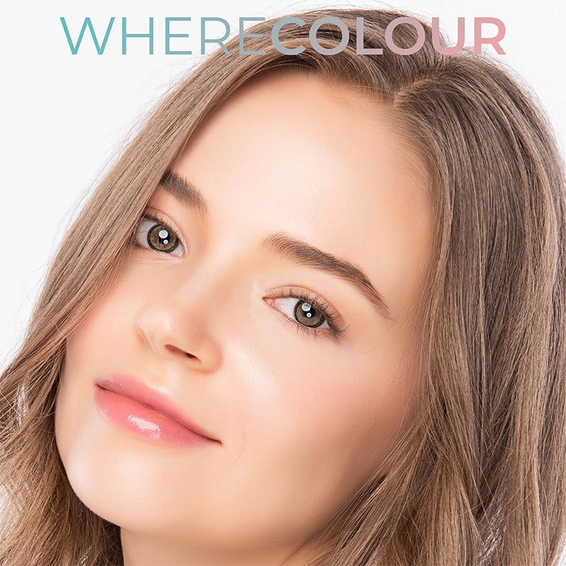 WhereColour Midsummer Flower Tears Grey Contacts