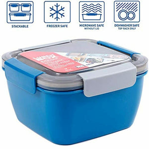 Lunch and Salad Container for Salad Toppings and Snacks