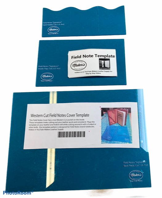 Acrylic template - Western cut field notes cover