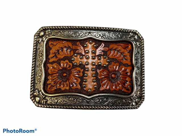 Leather Cross Buckle