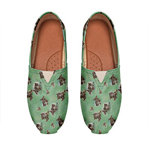 Cat Print Casual Shoes