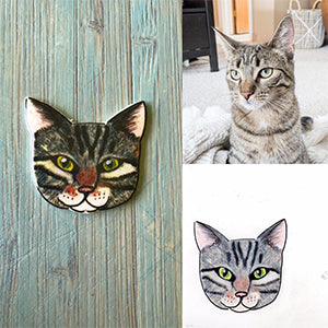 Personalized Cat Magnet Gift