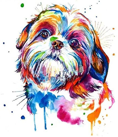 Personalized Yorkie Watercolor Painting