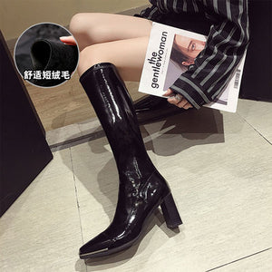 Women's shoes ankle boots 2020 autumn new thick heel high heel non-slip fashion casual motorcycle boots