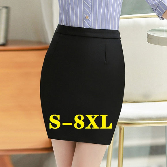 Women's skirt Woman Skirts Bodycon Mini Skirt Suits High Waist Black Suit OL Office Skirts For Womens Plus Size Free Shipping