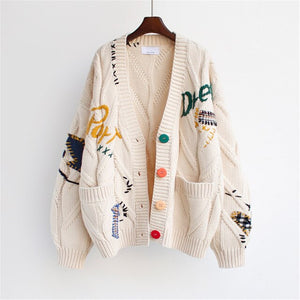 Autumn/winter Korean Version 2020 New Lazy Cardigan Sweater Women's Jacket Loose Mid-length Knitted All-match Top
