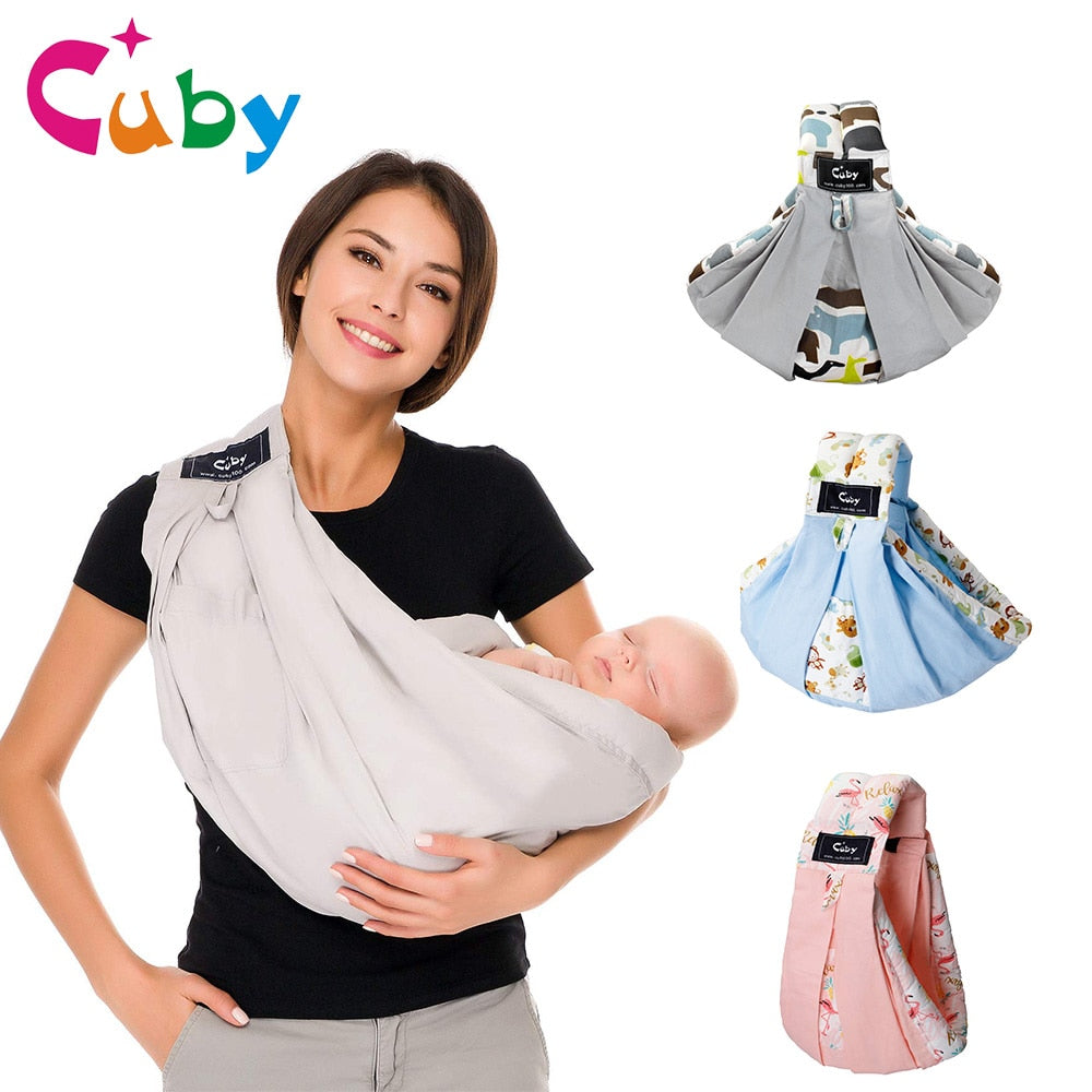 Infant Wrap Baby Carrier Natural Cotton Baby Breastfeeding Kangaroo Ergonomic Sling Baby Holder Newborn Toddler - Heybaby.