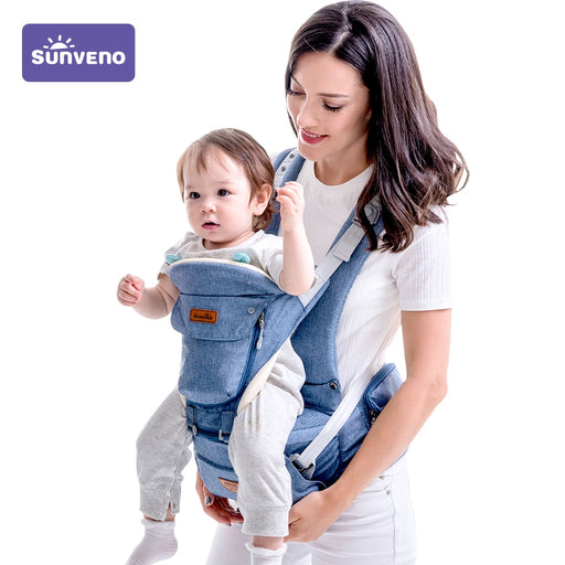 SUNVENO Baby Carrier Front Facing Baby Carrier Comfortable Sling Backpack Wrap Baby Kangaroo For Newborn 0-36 M - Heybaby.