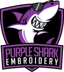 Purple Shark Embroidery Home Page Logo Design