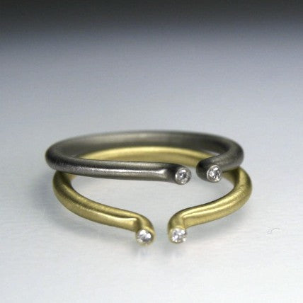 Round and Round Wedding Rings
