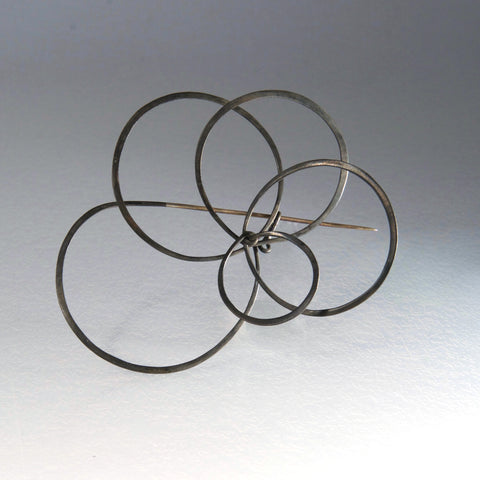 Round and Round Brooch