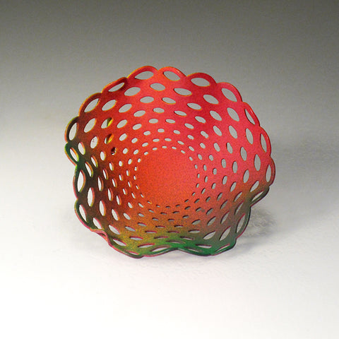 Moily Brooch - Red Green