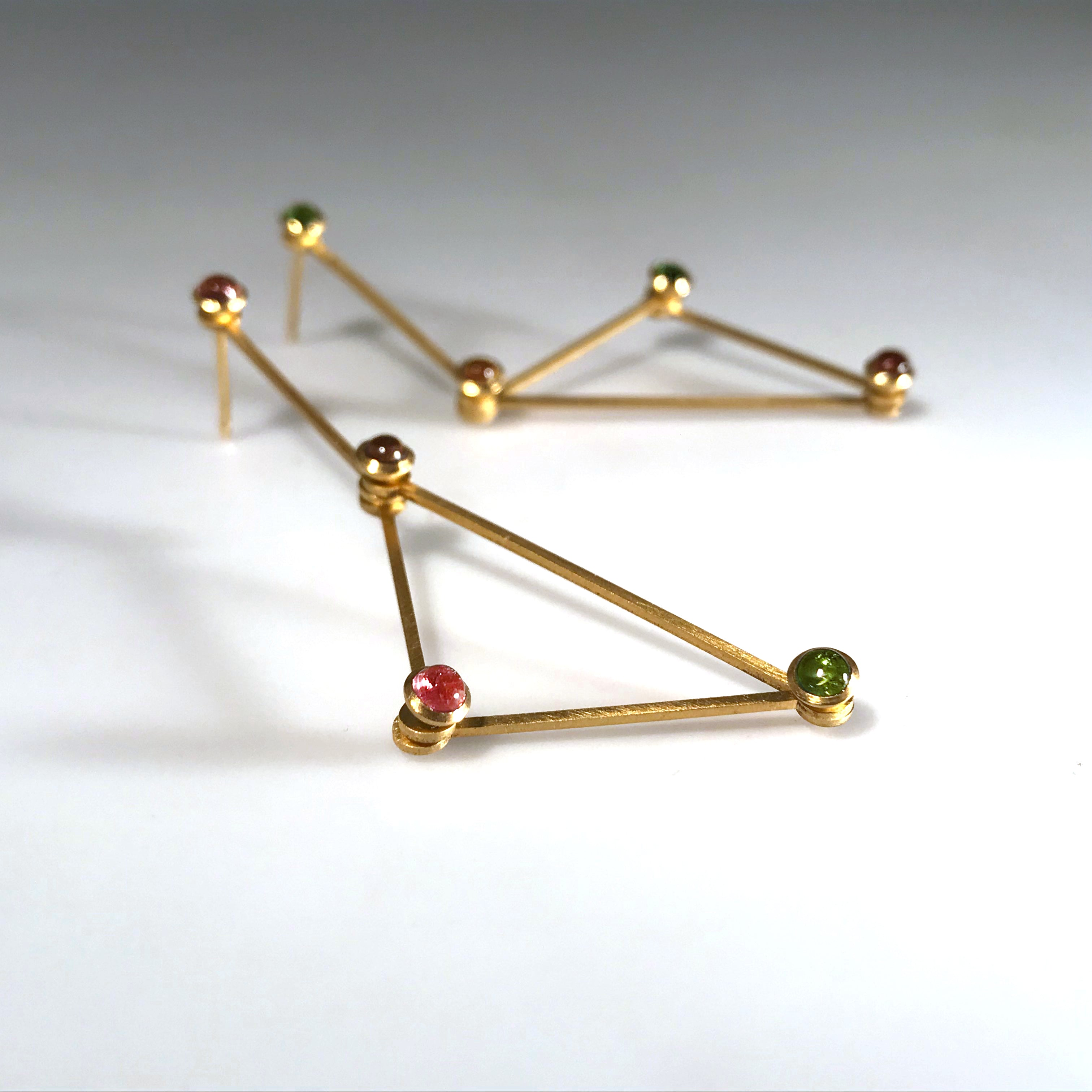 Lucy Earrings with Tourmalines