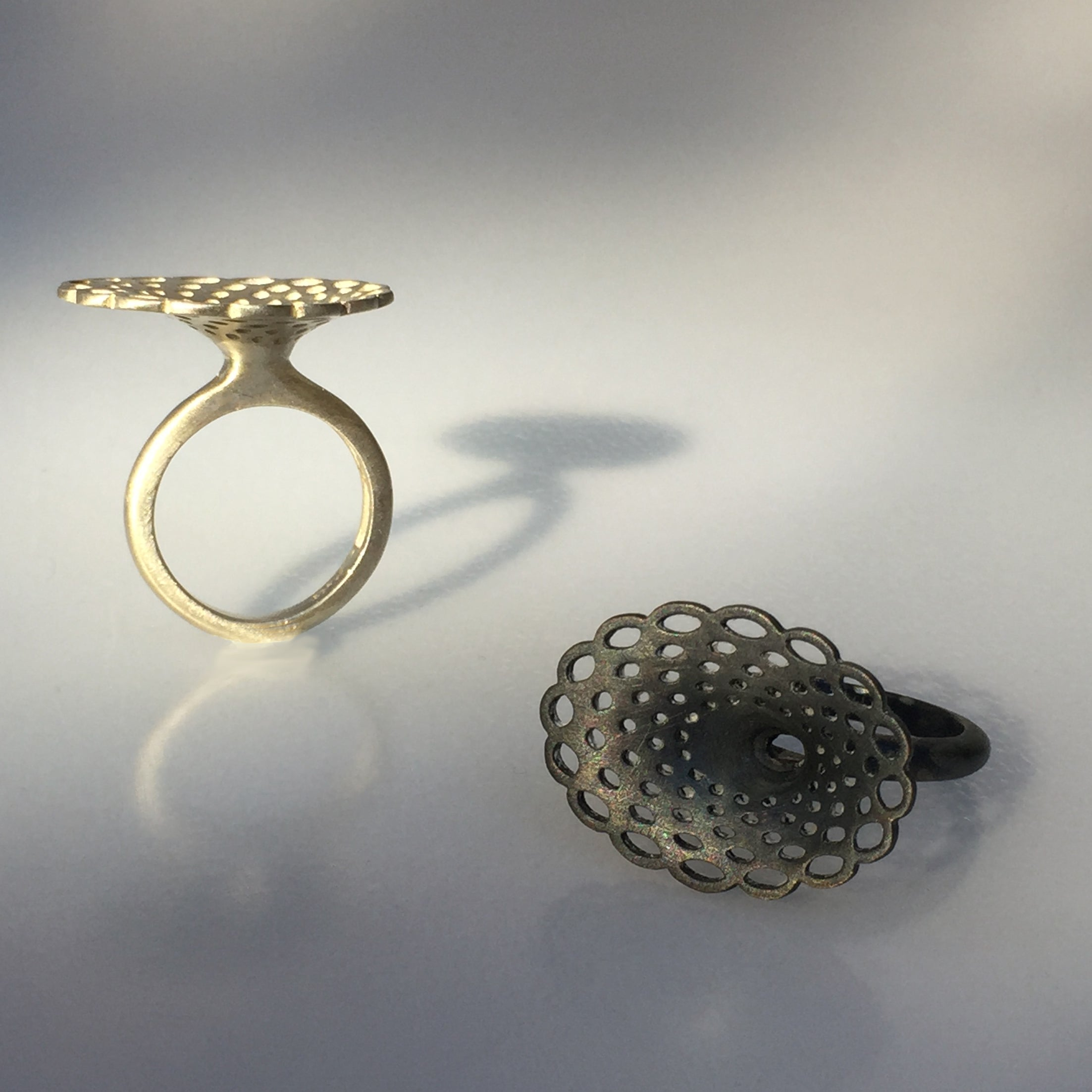 Doily Oval Ring