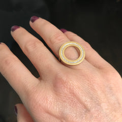 Circle Ring With Diamonds