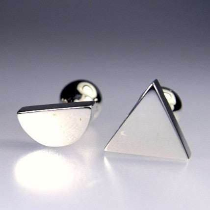 Half Circle Triangle Cuff Links