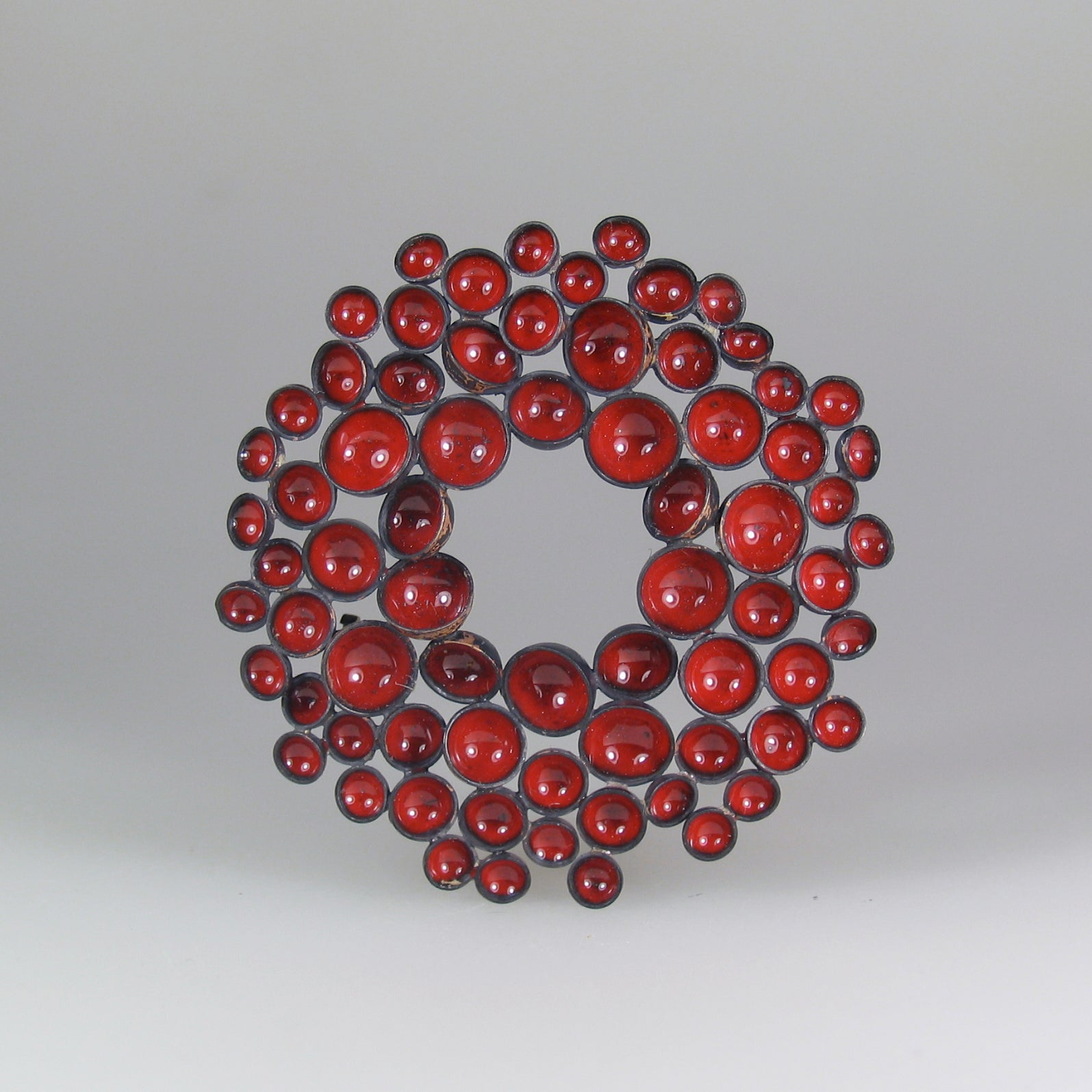 Round Foam Brooch